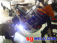 Motorcycle Welding